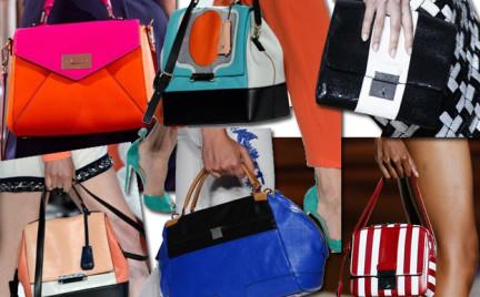 Moda z wybiegów: color-blocking na torebce