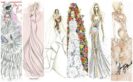 Projektanci szkicują suknię ślubną dla Lady GaGi