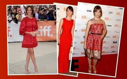 Która najlepsza: trzy gwiazdy trzy czerwone sukienki