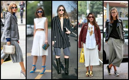 Trudny trend: culottes czyli eleganckie spodnie do kolan