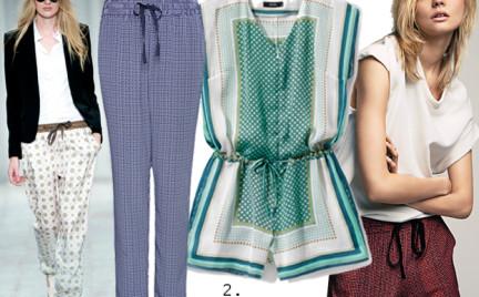 Moda z wybiegów: piżamowy luz