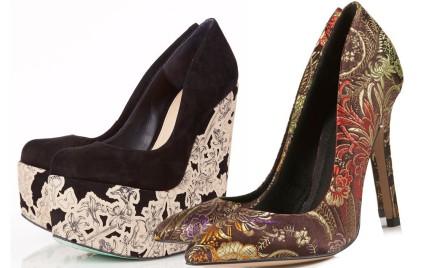 Barokowy przepych: buty z Top Shop