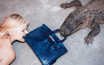 Hermes ze skóry aligatora w zębach aligatora. Zobacz kolejne dzieło kontrowersyjnego artysty