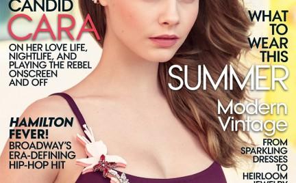 Cara Delevingne po raz pierwszy solo na okładce Vogue a