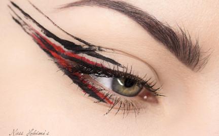 Makijaż: Anthony Vaccarello Fall 2014