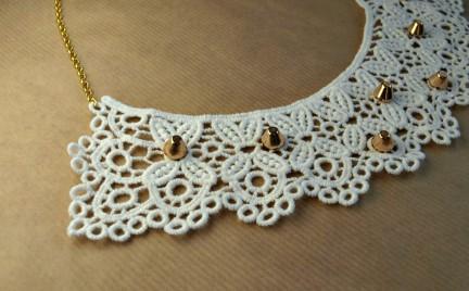 DIY: koronkowy naszyjnik