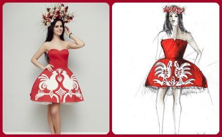 Narodowa suknia Marceli Chmielowskiej. Jak wam się podoba