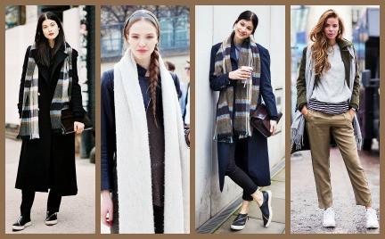 To jest modne: niezwiązany szalik