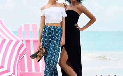H M na plażę: ażury dżins kwiaty