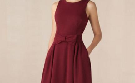 W kolorze wina: sukienka Massimo Dutti