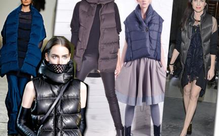 Moda z wybiegów: pikowana kamizelka
