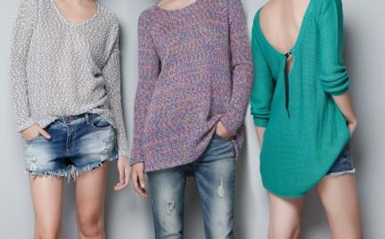 Jesień w swetrach Zara