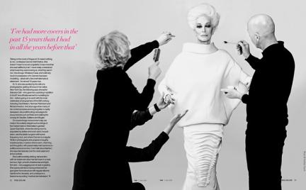 Wieczne piękno: 82-letnia Carmen Dell Orefice w magazynie YOU Magazine