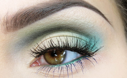 Optymistyczny zielony makijaż