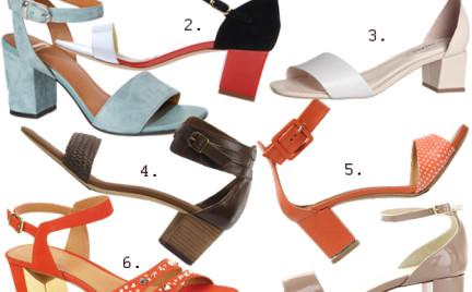 Kupujemy: sandały na niskim słupku
