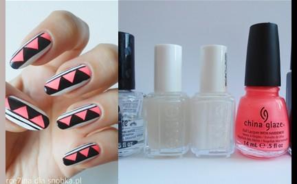 Manicure krok po kroku: Neon