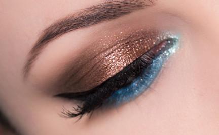 Makijaż: Mix brązu i turkusu