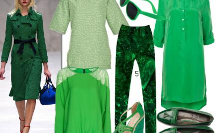 Moda z wybiegów: wiosenna zieleń