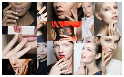 Cielisty manicure na wiosnę
