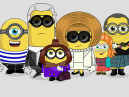 Anna Wintour Alexa Chung i Karl Lagerfeld jako minionki