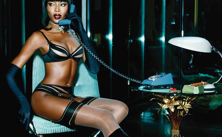 Naomi Campbell w bieliźnie Agent Provocateur