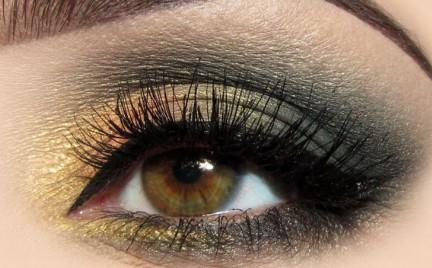 Makijaż: Zieleń i Złoto