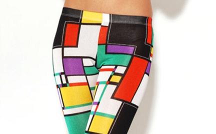 Color blocking: geometryczne legginsy