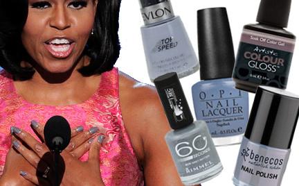 Zamienniki kosmetyczne: szarości na paznokciach Michelle Obama