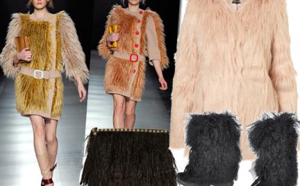 Moda z wybiegów: futro z długim włosem