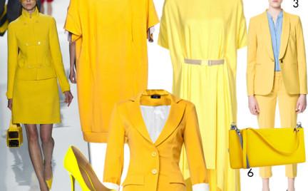 Moda z wybiegów: żółty. 80 propozycji