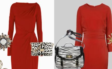 Drożej taniej: czerwona sukienka Michael Kors i Topshop