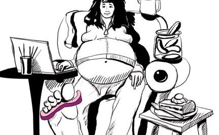 Snobka intymnie: CDM czyli Ciążą Drogą Mailową