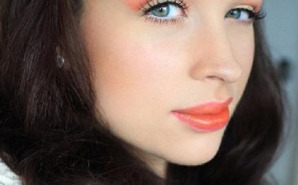 Makijaż 254 róż i pomarańcz