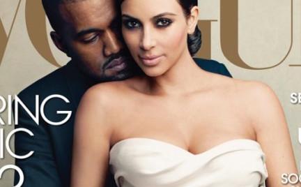 Kim Kardashian i Kanye West na okładce Vogue a